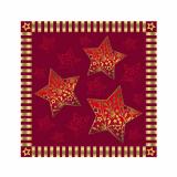 14 x  20 Servietten, 3-lagig 1/4-Falz 25 cm x 25 cm rot Sparkling Stars