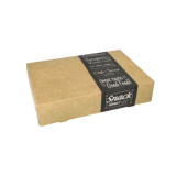 10 x  10 Transport- und Catering-Kartons pure eckig 8 cm x 24,7 cm x 35,7 cm Good Food klein