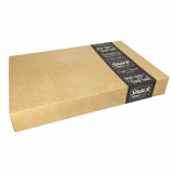 4 x  10 Transport- und Catering-Kartons pure eckig 8 cm x 37,6 cm x 55,7 cm Good Food groß