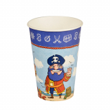 10 x  10 Trinkbecher, Pappe Magic Xperience 0,2 l Ø 7 cm · 9,7 cm Pirate