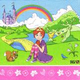 10 x  20 Servietten, 3-lagig Magic Xperience 1/4-Falz 33 cm x 33 cm Princess