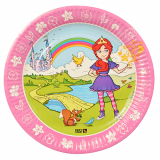 10 x  10 Teller, Pappe Magic Xperience rund Ø 23 cm Princess