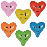 12 x  6 Luftballons Ø 28 cm farbig sortiert Heart - Blinky large