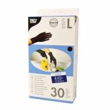 20 x  30 Handschuhe, Latex puderfrei schwarz Größe L