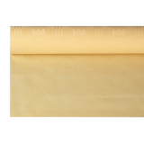 12 x  Papiertischtuch mit Damastprägung 6 m x 1,2 m creme