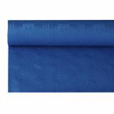 12 x  Papiertischtuch mit Damastprägung 6 m x 1,2 m dunkelblau