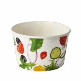 12 x  50 Salatschalen, Pappe To Go 600 ml Ø 12,5 cm · 7,5 cm Salad