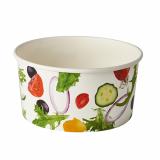 8 x  45 Salatschalen, Pappe To Go 1 l Ø 15 cm · 7,5 cm Salad