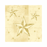 12 x  50 Servietten, 3-lagig 1/4-Falz 25 cm x 25 cm creme Star Shine