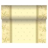 6 x  Tischläufer, stoffähnlich, Airlaid 24 m x 40 cm creme Star Shine