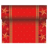 6 x  Tischläufer, stoffähnlich, Airlaid 24 m x 40 cm rot Star Shine