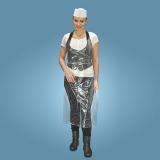 10 x  100 Latz-Schürzen, LDPE 125 cm x 67,5 cm transparent