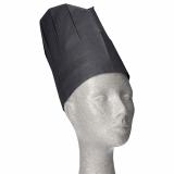 10 x  10 Kochmützen, Krepp 23 cm x 27,5 cm schwarz Provence Größenverstellbar