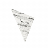 1000 Spitztüten, Pergament-Ersatz 27 cm x 19 cm x 19 cm Newsprint Füllinhalt 125 g, fettdicht