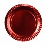 15 x  6 Teller, Pappe rund Ø 29 cm rot