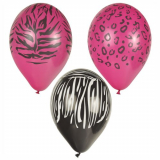 12 x  6 Luftballons Ø 29 cm farbig sortiert Animal-Print