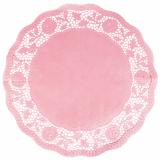 25 x  6 Tortenspitzen rund Ø 35 cm rosa