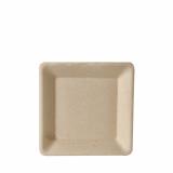10 x  50 Teller, Zuckerrohr pure eckig 15,5 cm x 15,5 cm natur