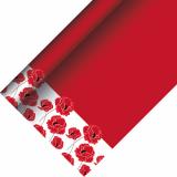 12 x  Tischdecke, Papier 5 m x 1,2 m Poppy