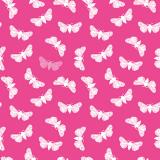 10 x  20 Servietten, 3-lagig 1/4-Falz 40 cm x 40 cm fuchsia Butterfly