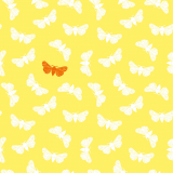 10 x  20 Servietten, 3-lagig 1/4-Falz 40 cm x 40 cm gelb Butterfly