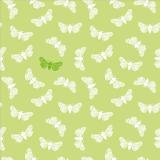 10 x  20 Servietten, 3-lagig 1/4-Falz 40 cm x 40 cm limonengrün Butterfly