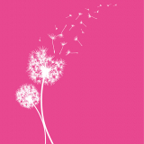 10 x  20 Servietten, 3-lagig 1/4-Falz 40 cm x 40 cm fuchsia Dandelion
