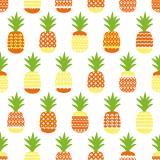 10 x  20 Servietten, 3-lagig 1/4-Falz 33 cm x 33 cm Ananas