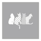 10 x  20 Servietten, 3-lagig 1/4-Falz 33 cm x 33 cm Cats