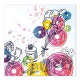 10 x  20 Servietten, 3-lagig 1/4-Falz 33 cm x 33 cm Birthday Gifts