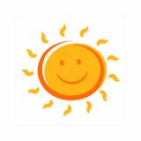 14 x  20 Servietten, 3-lagig 1/4-Falz 25 cm x 25 cm Here comes the Sun