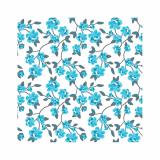 14 x  20 Servietten, 3-lagig 1/4-Falz 25 cm x 25 cm blau Milleflora