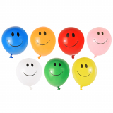 10 x  40 Luftballons farbig sortiert Smile Maxi - Wasserbomben