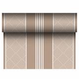 4 x  Tischläufer, stoffähnlich, PV-Tissue Mix ROYAL Collection 24 m x 40 cm braun Elegance