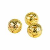12 x  12 Deko-Kugeln aus Metall Ø 28 mm gold Marrakesch