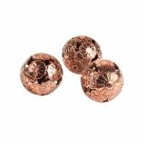 12 x  12 Deko-Kugeln aus Metall Ø 28 mm kupfer Marrakesch