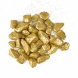 11 x  Deko - Steine 450 ml gold Glittertree 9 - 13 mm