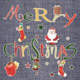 15 x  20 Servietten, 3-lagig 1/4-Falz 33 cm x 33 cm Christmas Cheer