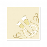14 x  20 Servietten ROYAL Collection 1/4-Falz 25 cm x 25 cm gold Festive Moments