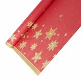 12 x  Tischdecke, Papier 6 m x 1,2 m rot Just Stars