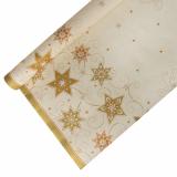 12 x  Tischdecke, Papier 6 m x 1,2 m creme Just Stars
