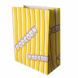 5 x  100 Popcorn Tüten, Pergament-Ersatz 4,5 l 24,5 cm x 19 cm x 9,5 cm Popcorn fettdicht