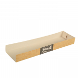 15 x  50 Snacktrays, Pappe pure 3 cm x 7,5 cm x 28,5 cm Good Food