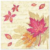 5 x  50 Servietten ROYAL Collection 1/4-Falz 40 cm x 40 cm Autumn Colours