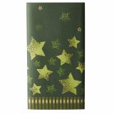 5 x  Tischdecke, stoffähnlich, Airlaid 120 cm x 180 cm grün Star Shine