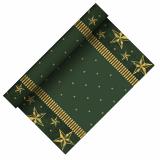 6 x  Tischläufer, stoffähnlich, Airlaid 3 m x 40 cm grün Star Shine