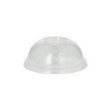 20 x  100 Dom-Deckel, PLA pure rund Ø 9,5 cm · 4,5 cm glasklar mit Lochung
