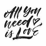 10 x  20 Servietten, 3-lagig 1/4-Falz 33 cm x 33 cm All you need is Love