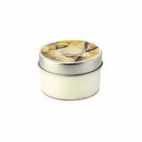 18 x  Duftkerze in Polycarbonathülle Ø 70 mm · 40 mm creme - Vanilla mit Metalldeckel
