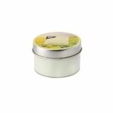 18 x  Duftkerze in Polycarbonathülle Ø 70 mm · 40 mm hellgrün - Green Tea mit Metalldeckel